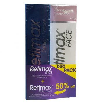 Promoción Retimax Tónico Facial + Retimax Face